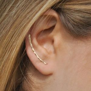 Right Ear 14k Gold Coated Crawler